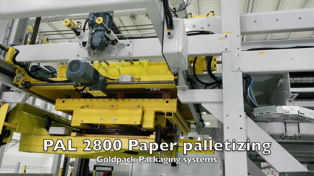 Высокопродуктивное паллетирование в индустрии бумаге PAL 2800