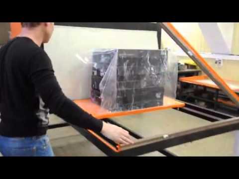 Упаковка коробок.Групповая Термоусадка,защитная упаковка в термоусадочную пленку,упаковочная машина