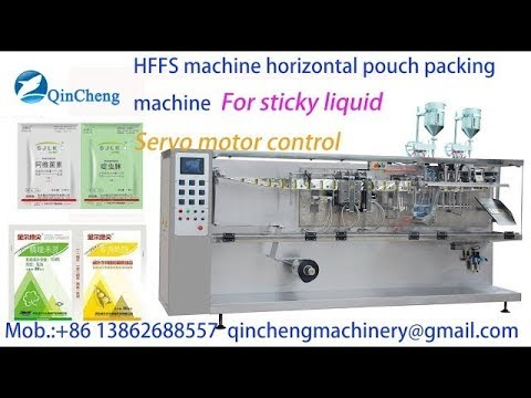 HFFS horizontal pouch packing machine.film roller pouch packing machine for viscosity liquid