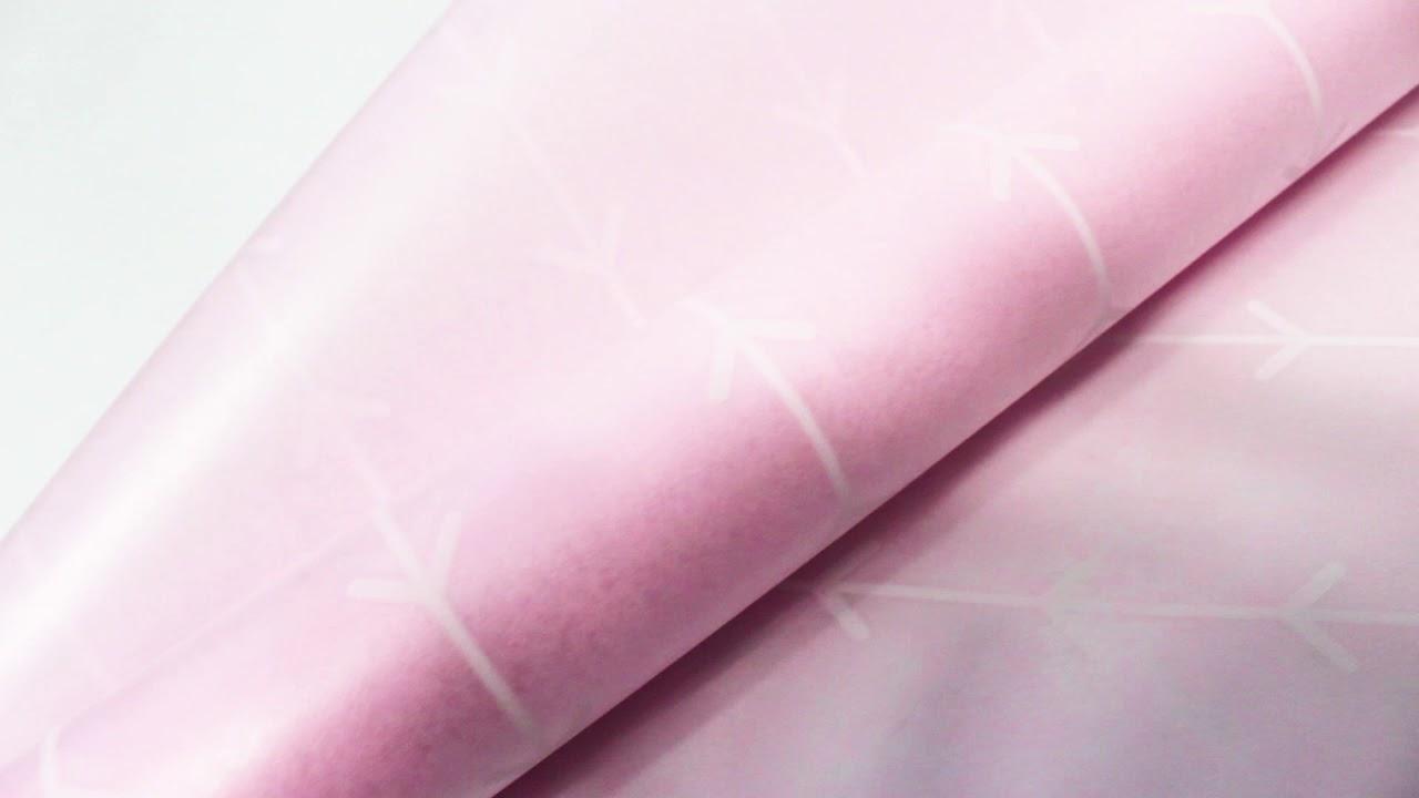 """Упаковочный материал Ламинированный фетр """"Кустик"""", 60 см х 5 м Розовый"""