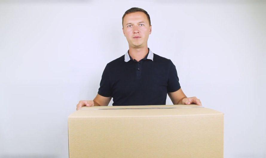 Усиленная картонная коробка (144 литра)